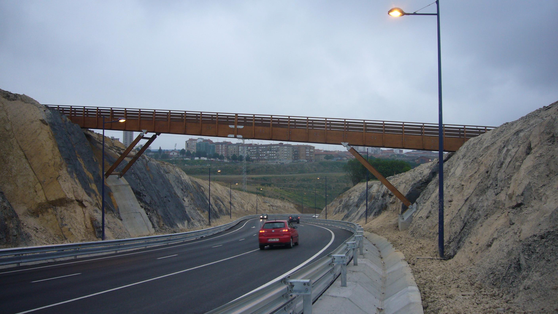 Puente madera 43x2m Portugalete (Vizcaya)