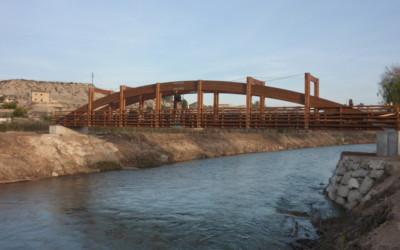 5223 – Puente 32,00 x 2,50 metros y 14,00 x 4,00 metros sobre el Río segura en Cieza, Murcia