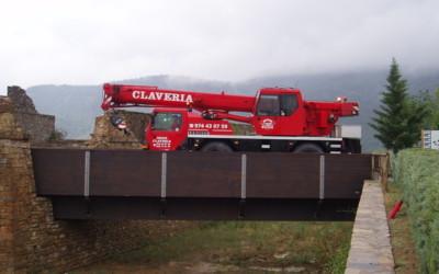 2091 – Puente 24,00 x 4,00 m para el acceso del Castillo de Ainsa