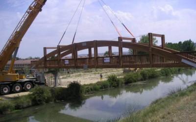 2335 – Puente de 32,50 x 3,00 m en el Canal de Castilla, Grijota