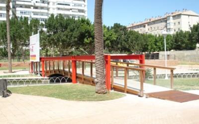 3335 – Puente 24,30 x 2,00 m en el Parque del Oeste, Málaga
