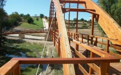 Puente de 50 m x 2,50 m sobre el Río Adaja, Ávila (4602)