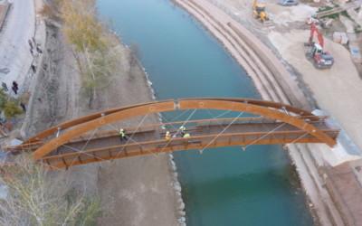 Puentes de 40,00 x 2,50 metros sobre el Río Segura, en Cieza, Murcia (5224)