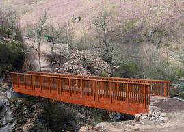 El puente sobre el río Tuela