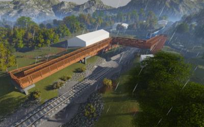 Paso superior ferroviario en La Galguera, Asturias (5808)