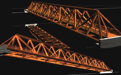 Puente tipo Celosía Espacial Triangular
