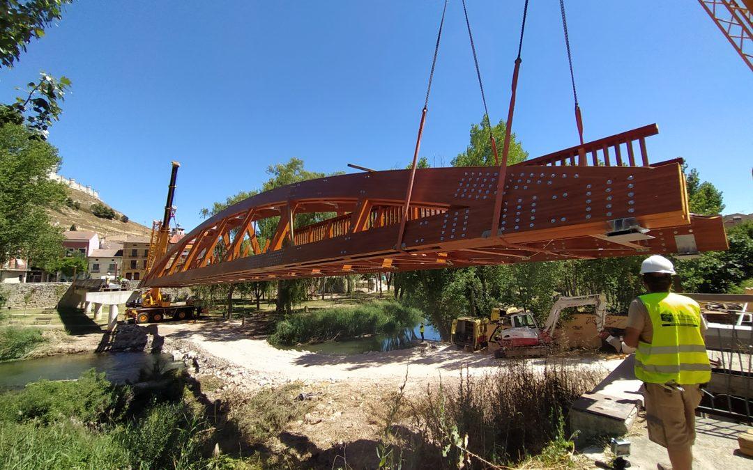 Montaje del Puente de Peñafiel