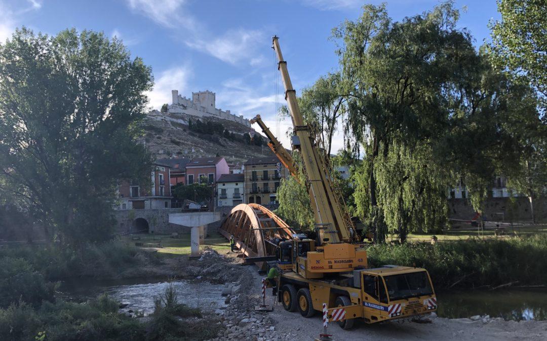 Time Lapse del Montaje del Puente de Peñafiel