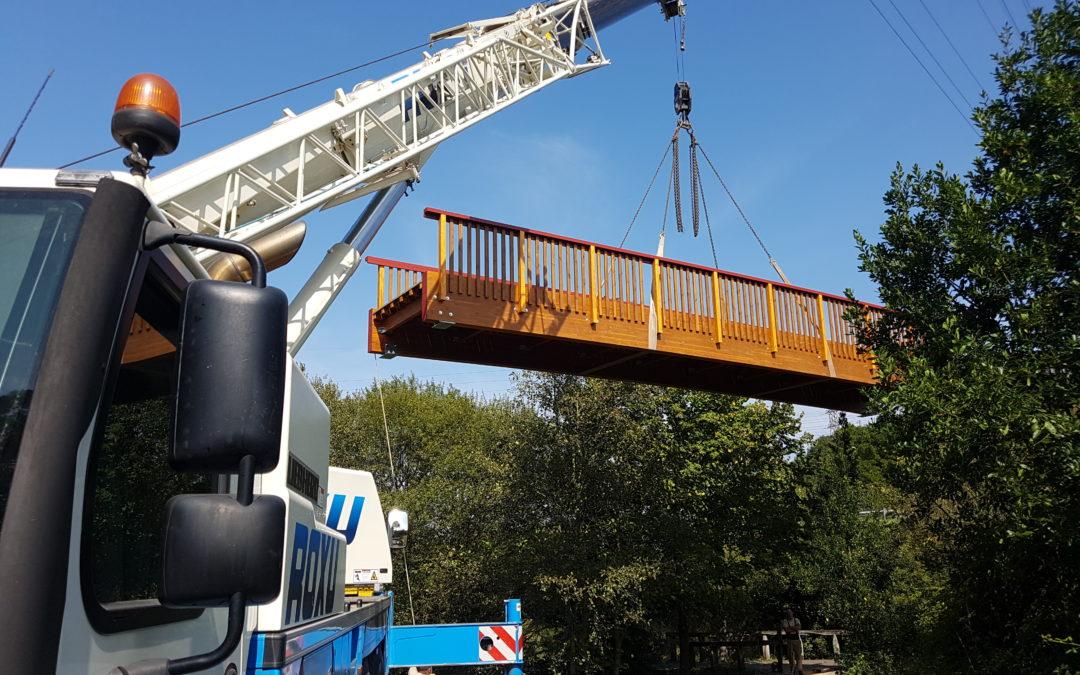 Renovación de ocho pasarelas en la ciudad de Gijón