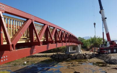 Puentes de 32 m y 20 m sobre el río Castor y río Judío (5828)