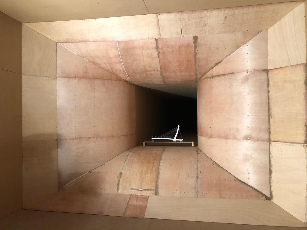 Ensayo Tunel de Viento Pasarela de Madera