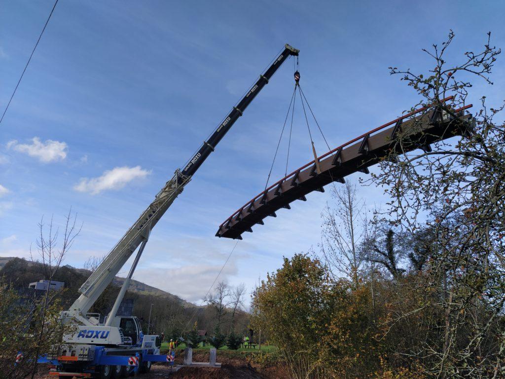 Puente de madera 28x1,6m Benia de Onis (Asturias)