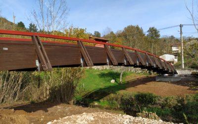 Puente de 28 m x 1,6 m en Benia de Onís, Asturias (5934)