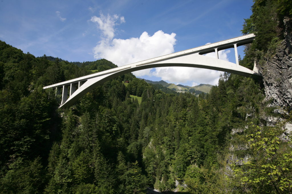 Vista del puente de Salginatobel
