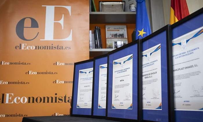 Certificado a la gestion empresarial excelente