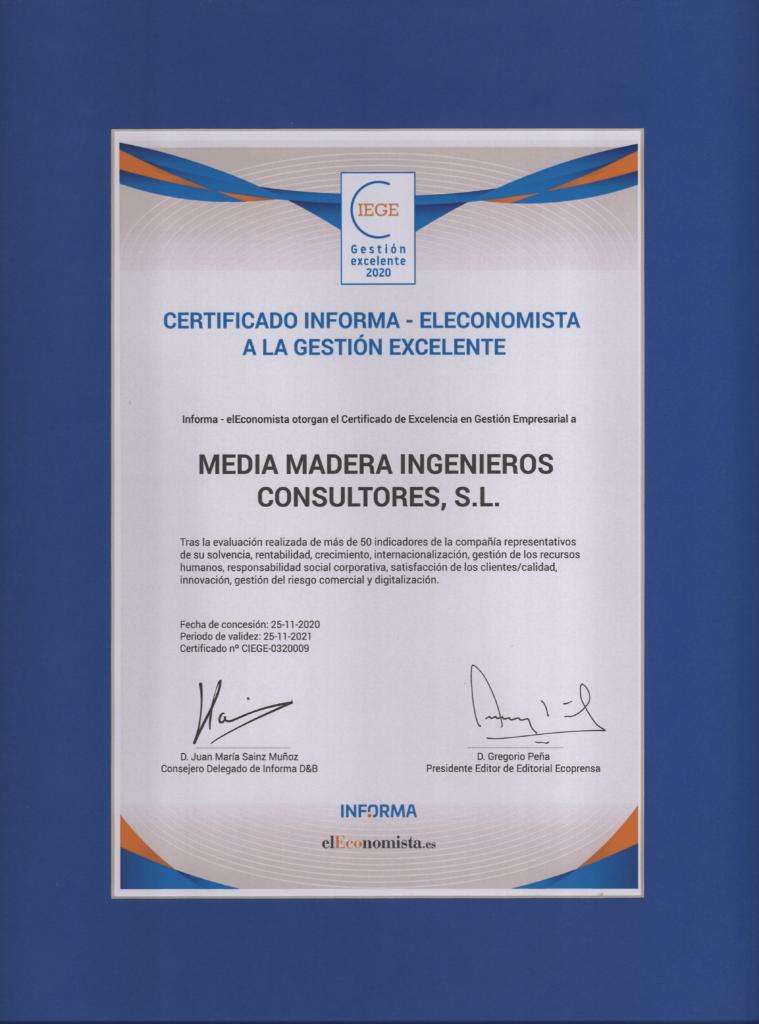 Premio El Economista 2020 - Media Madera