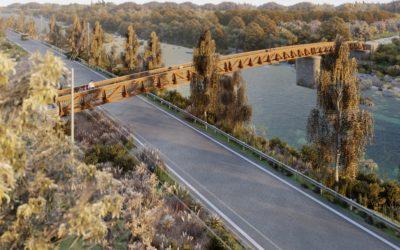 """Pasarela """"Puente Tren Burra"""" sobre el río Carrión, Palencia (5966)"""