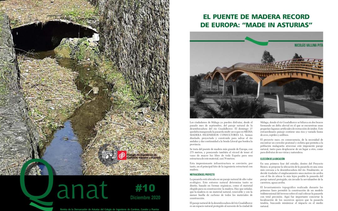 Artículo en la revista del Colegio de Ingenieros de Caminos, Canales y Puertos de Asturias